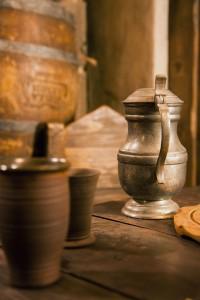 medieval tin jug